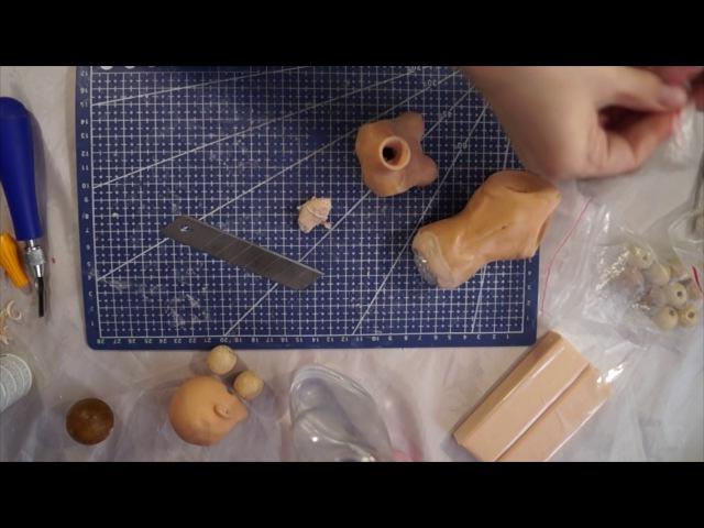 Шарнирная кукла своими руками с нуля часть 10 Шейный и торсовый шарнир