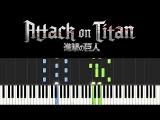 Attack on Titan - Season 2 Opening Theme (Piano Tutorial - Synthesia) + sheets