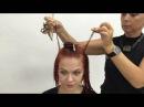 Пошаговое выполнение стрижки на средние волосы в школе ШТЭРН