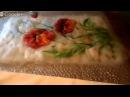 Валяем цветочный фрагмент для создания пледа. Марафон Сваляем лето