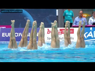 Belarus (BLR) Team Free Final Berlin European Aquatics Championships 2014