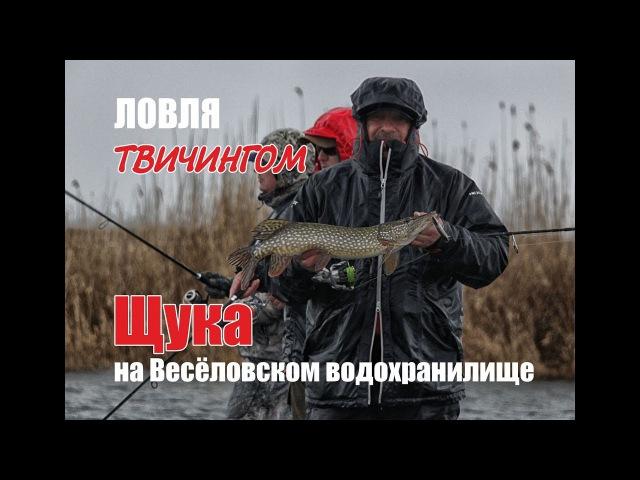 Ловля твичингом Щука на Весёловском водохранилище