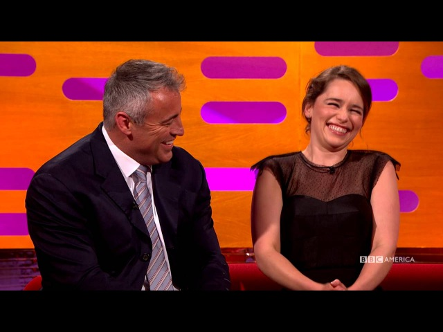 Emilia Clarke Makes Matt LeBlanc Say The Thing - The Graham Norton Show