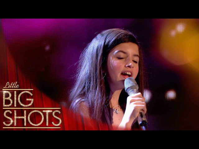 10yr old Angelina stuns the audience with her voice | Little Big Shots