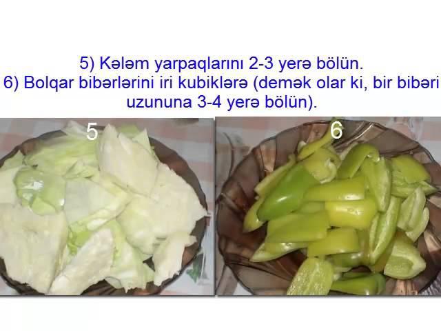 Assorti turşu resepti (şəkillərlə)
