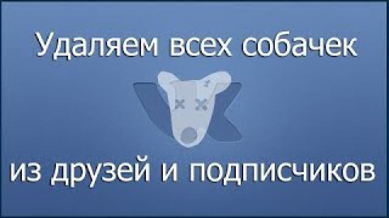 Как удалить всех собак из друзей.Программа VKBot.