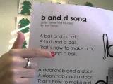 Песенка на запоминание букв b and d song