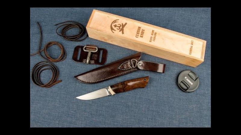 Нож ручной работы М390(62HRC) (скандинавские мотивы)