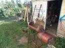 Коптильня горячего копчения из газовых баллонов.Все доделал. 5