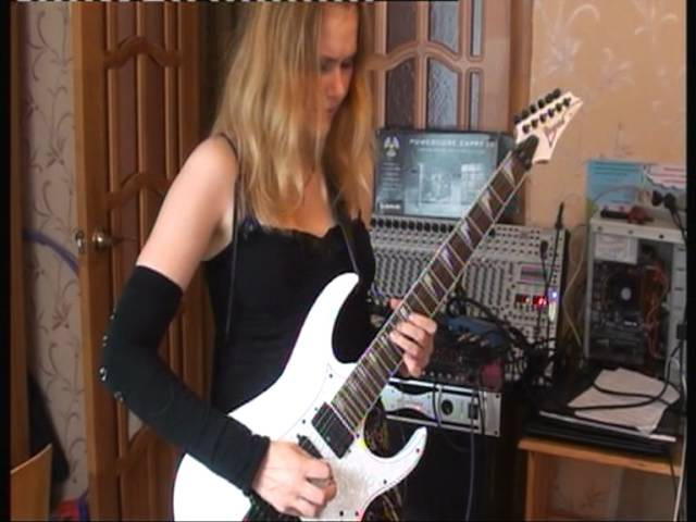 Steve Vai-For the Love of God (cover) by Zarina (female guitarist)