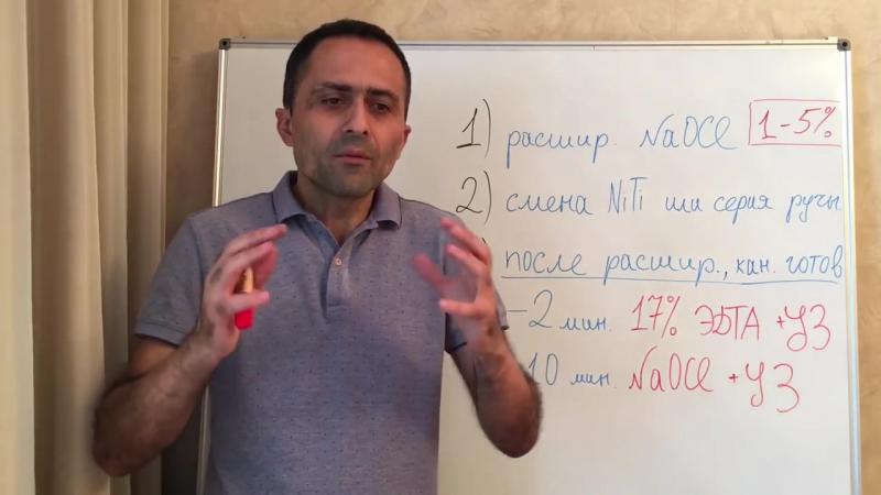 Ирригация корневых каналов Проверенный протокол Артак Антанян