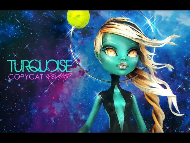 Doll Repaint   Figurine Steven Universe Turquoise Dou-Hong Deviantart OOAK Custom Monster High