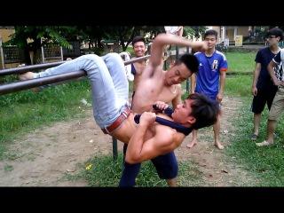victory calisthenics belly punching superhero work đấm liên khoàn cước như phim hành động Ufc