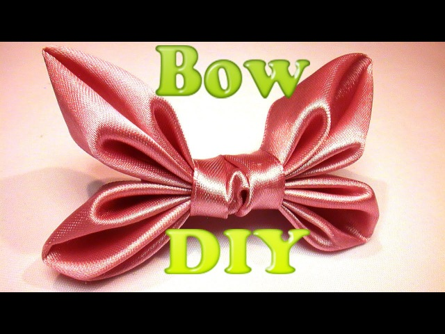Как сделать Бант для Волос? Бантик из Ленты / How to make a hair bow, Ribbon Hair Bow Tutorial, DIY