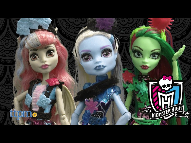 Monster High Party Ghouls Abby Bominable, Rochelle Goyle Venus McFlytrap from Mattel