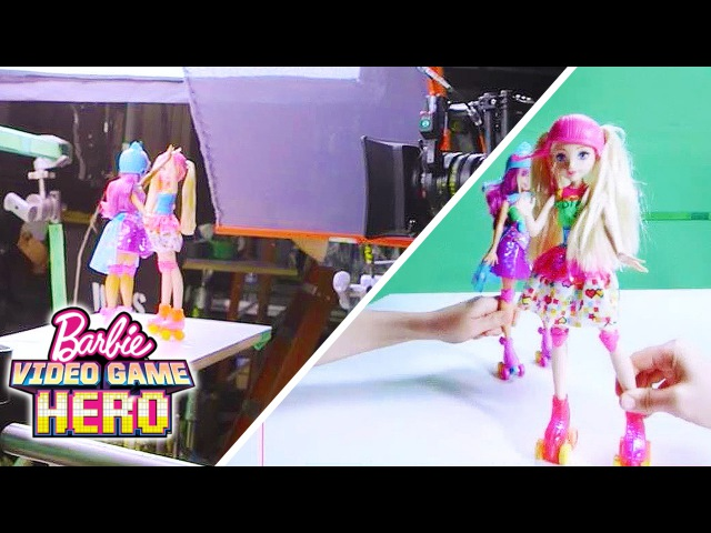 Behind the Scenes: Barbie Video Game Hero Light-Up Skates Doll Commercial | Barbie