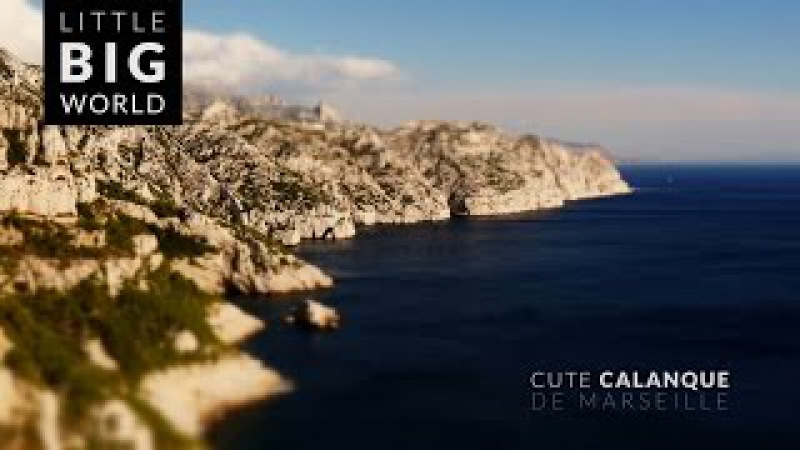 Calanques de Marseille (4k - Time lapse - Tilt-Shift)
