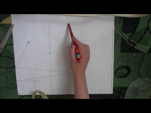 Простой способ построения базовой выкройки полочки и спинки