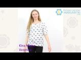 Блузка для беременных Юла Мама Veronica арт  BL 17 012 принт слоны на молоке