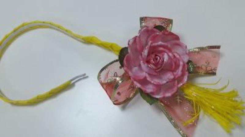 МК. Ободок с розой из фоамирана! Простой способ!