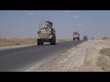 Сирия. Ракка. Колонна  3 батальона 75 полка рейнджеров и сводных частей 11 экспедиционного полка КМП близ города Айн Исса.