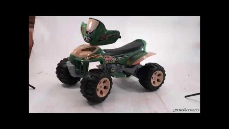 Детский электромобиль T-735 GREEN квадроцикл, зеленый - дисней.com.ua