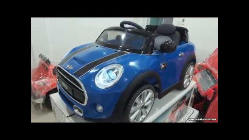 Детский электромобиль T-7910 Mini BLACK, Mini Cooper, черный - дисней.com.ua