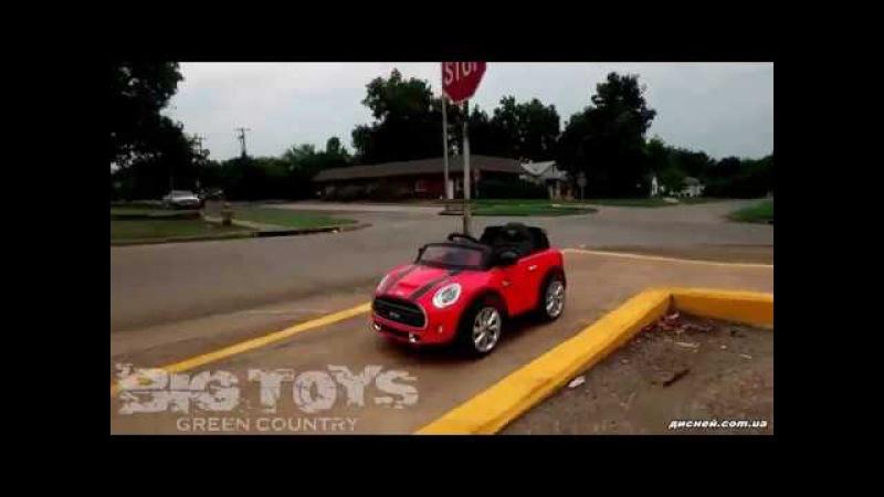 Детский электромобиль T-7910 Mini RED, Mini Cooper, красный - дисней.com.ua