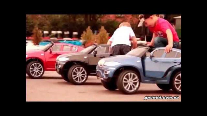 Детский электромобиль T-791 BMW X6 WHITE джип, белый - дисней.com.ua