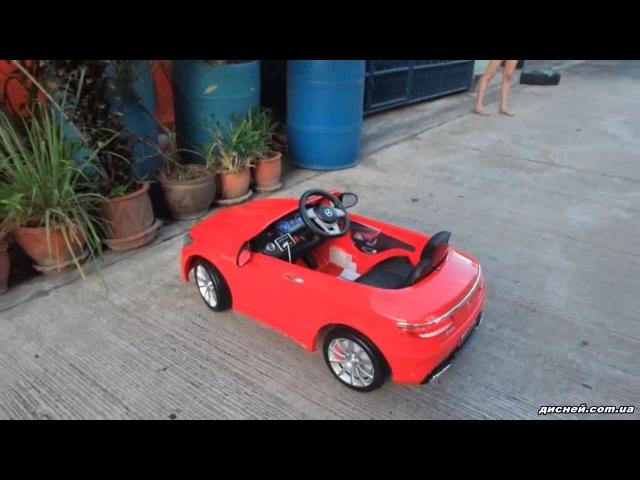 Детский электромобиль T-799 Mercedes S63 AMG RED, красный - дисней.com.ua