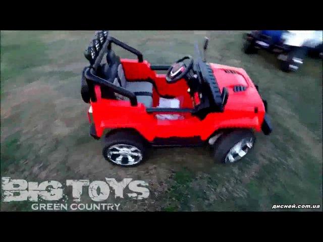 Детский электромобиль T-7811 RED джип, Jeep, красный - дисней.com.ua