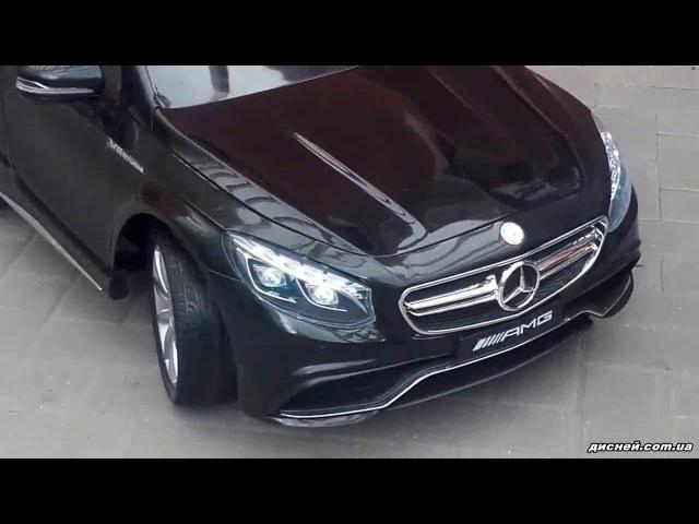 Детский электромобиль T-799 Mercedes S63 AMG BLACK, черный - дисней.com.ua