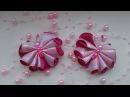 Бабочки-зажимы из атласной ленты. Канзаши. Мастер класс DIY Kanzashi