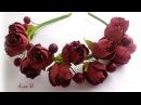 МК Ободок с цветам из фоамирана.