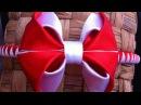 Украшение на ободок Канзаши / Красно-белый бант