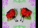 Заколка Божья Коровка Hairpin Ladybird kanzashi канзаши
