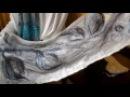 GS2111 Шарфы от Людмилы, Даллас, Nuno Felt Art Scarf