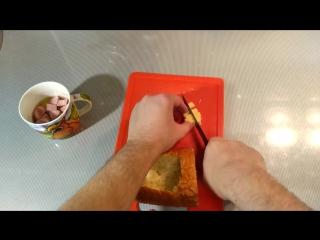 Омлет в батоне кулинарный лайфхак