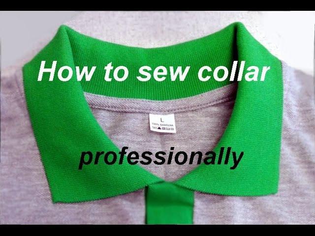 ✂✂ How to Sew a t-shirt collar Polo. ✂ Jak wszyć kołnierzyk do koszulki polo. Kurs szycia .