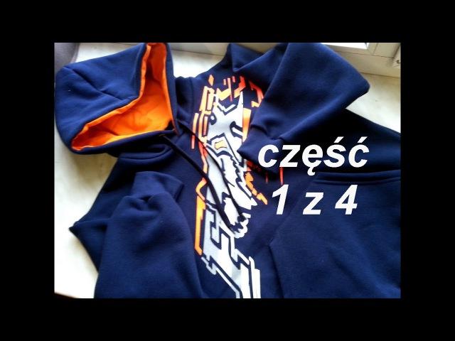 DIY Sweatshirt kangaroo pocket part 1/4 sewing course bluza kangurka cz 1/4 dwuigła