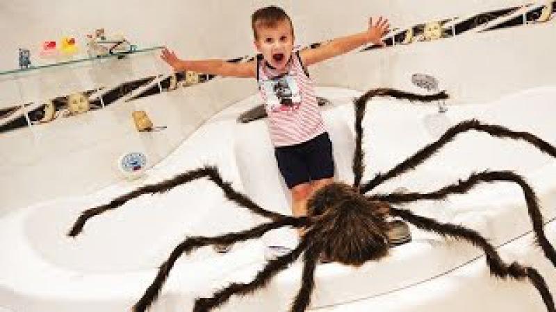 ГИГАНТСКИЙ ПАУК напал на Ребенка GIANT SPIDERS ATTACK Человек Паук спасает ★ Kids Roma Show