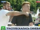 Журналисту в прямом эфире дали по морде ВДВ расплескалась синева