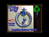 Diy.How to make a Recycling Christmas wreath Diy & Crafts with Mirna