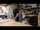 Изготовление двусторонней фигуры из пластика ПВХ 5 мм с хромированной рамой
