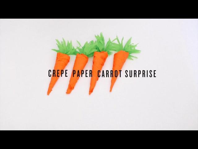 DIY Crepe Paper Carrot Surprise by Rubyellen of CAKIES
