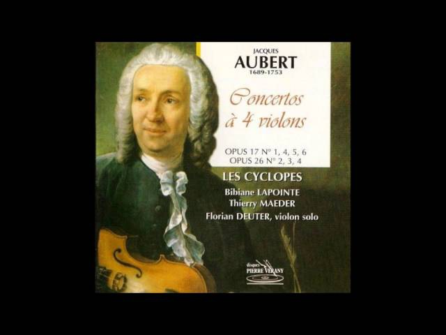 Jacques Aubert (1689-1753) Concertos for 4 Violins and B.c., Les Cyclopes