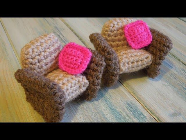 (crochet) How To - Crochet a Doll's House Armchair - Yarn Scrap Friday