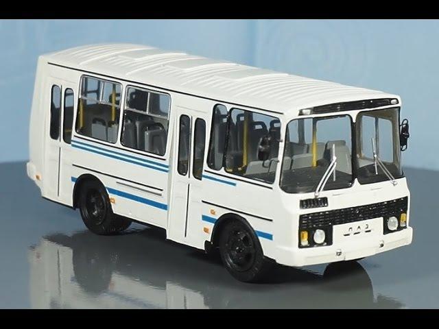 обзор масштабная модель автолегенды ссср автобус паз-32054 - 1:43 (vector models) Modelling