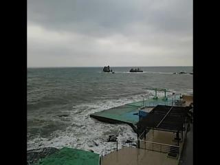 Великолепие моря #утес #алушта #шторм