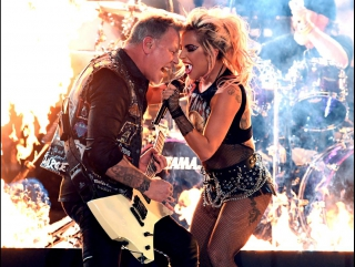 Lady Gaga  Metallica Live at 2017 Grammys
